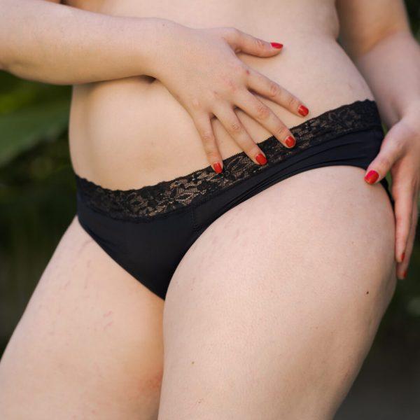 Calzón menstrual bikini rev flujo alto